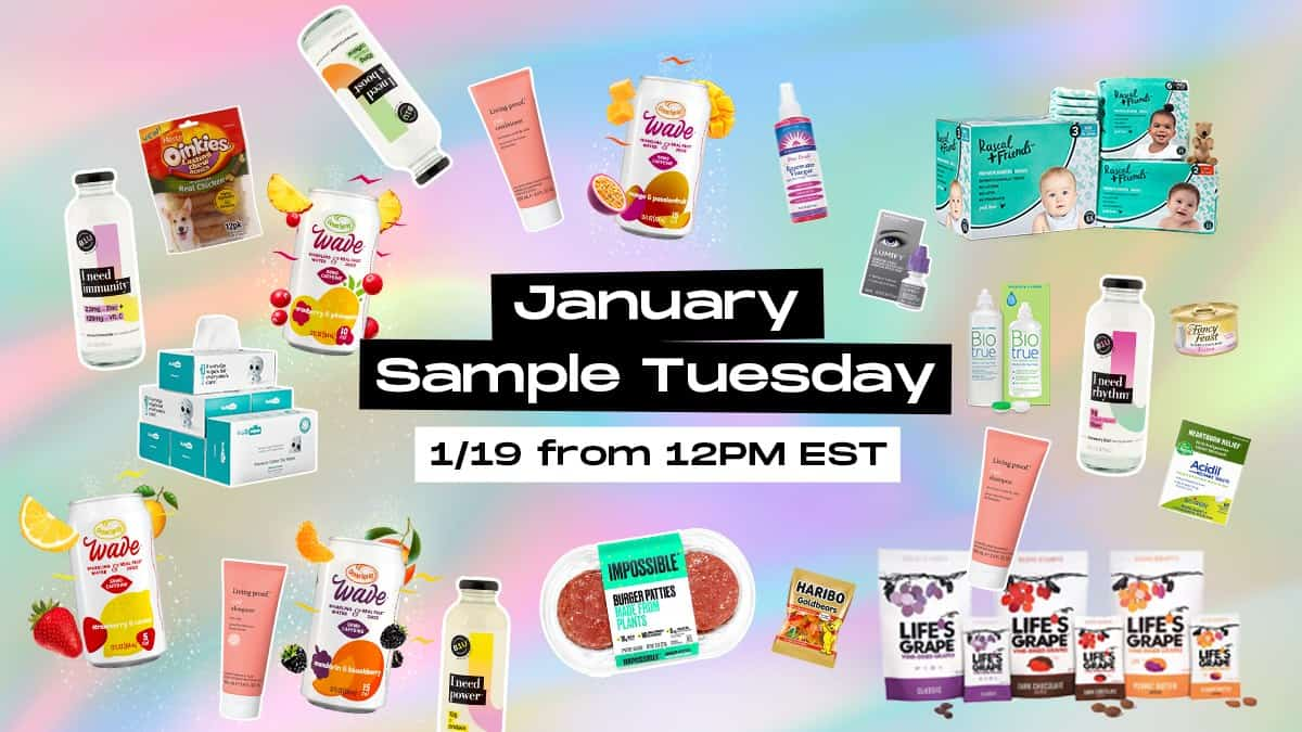 January Sample from PinchMe Sample Tuesday sign-up
