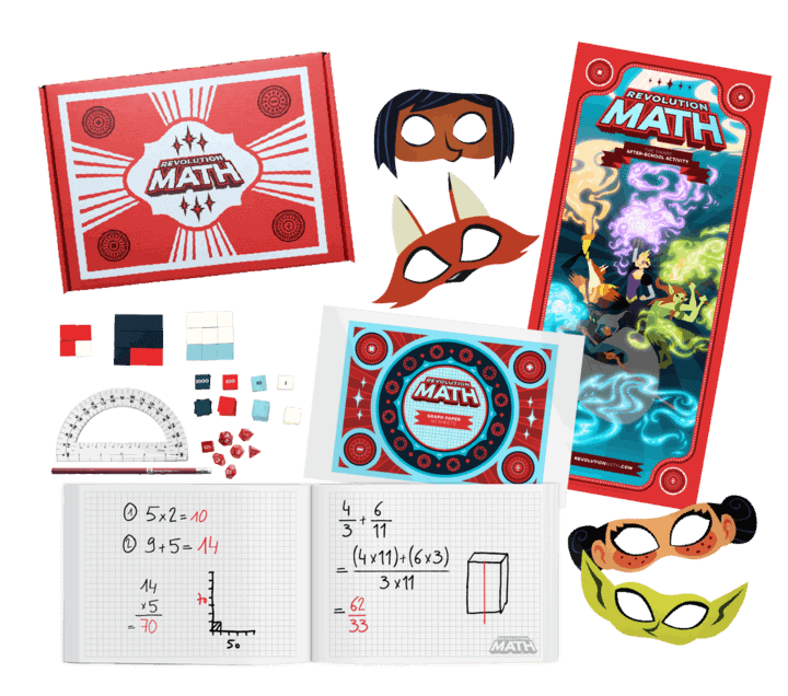 An assortment of superhero math learning opportunities and kits available for kids.