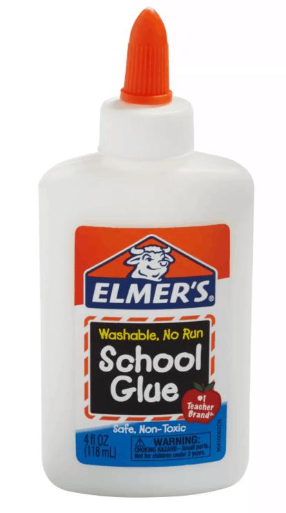 Elmers washable school glue bottle.