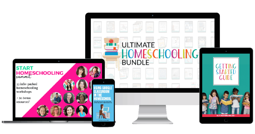 All the resources for the ultimate homeschooling bundle.
