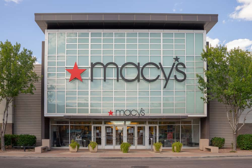 Macy's store front and logo.