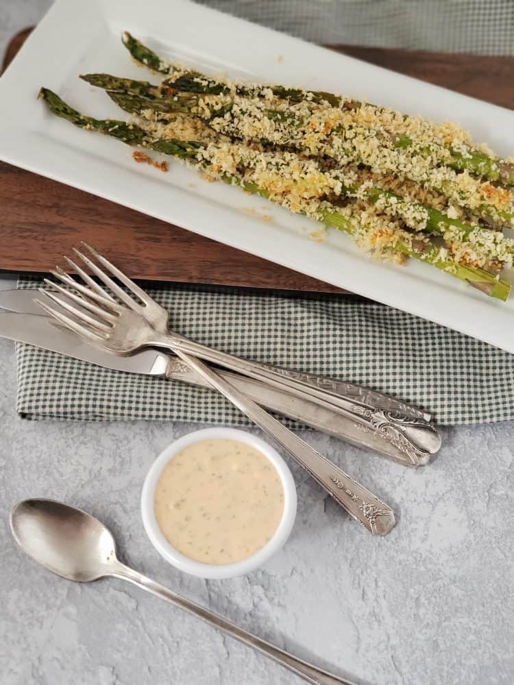 Panko Asparagus with Chipotle Lime Aioli Recipe