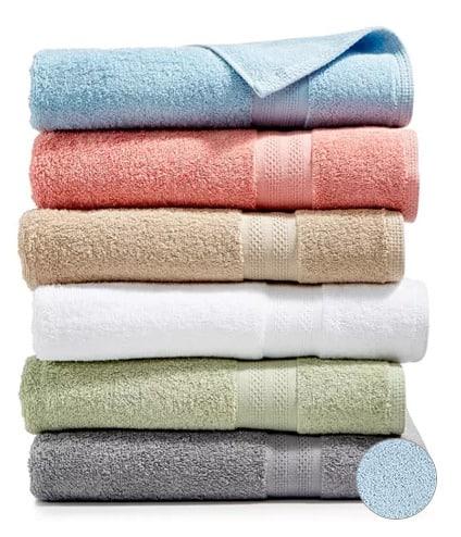 A close up of a towels