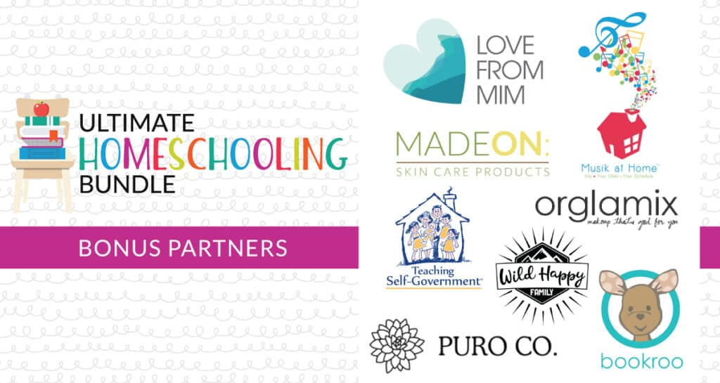 Ultimate homeschooling bundle bonus partners.