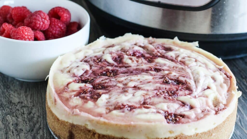 Instant Pot Raspberry Swirl Cheesecake Recipe