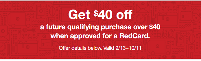 Target coupon for $40 off