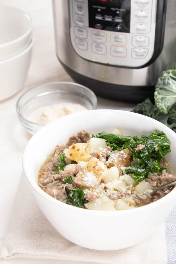 Close up to Zuppa Toscana from Olive Garden
