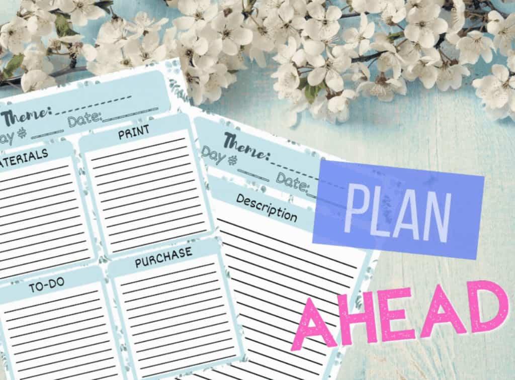 Monthly homeschooling overview planner.