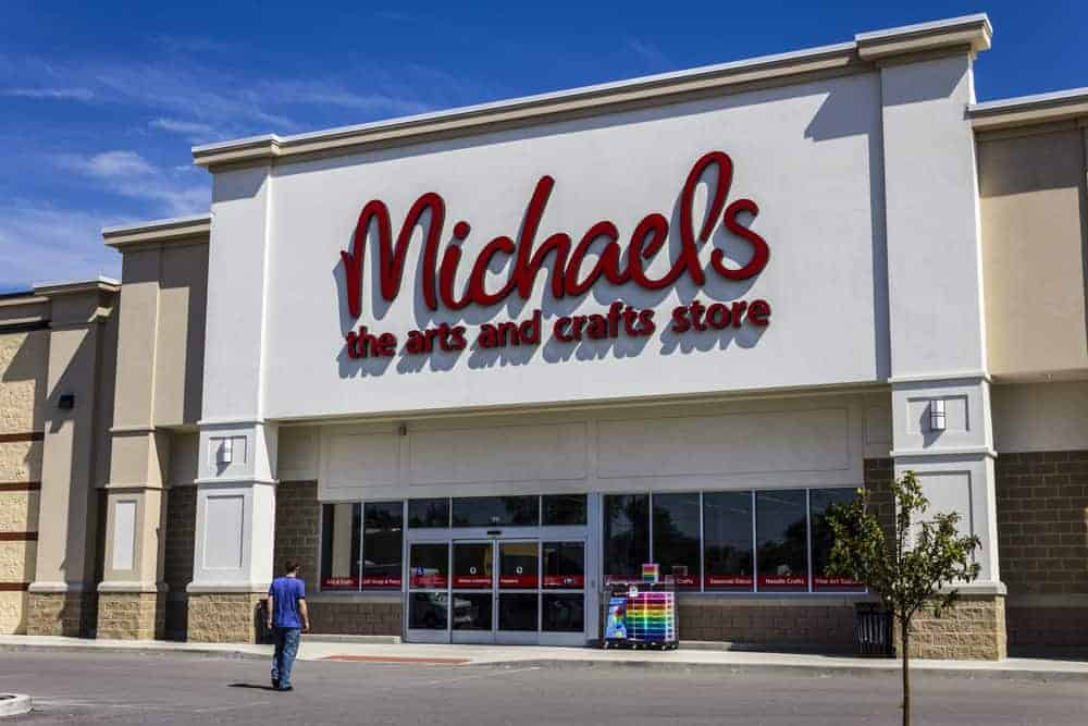Exterior of Michael's Craft Store. Michael's is an Arts and Crafts Retail Chain