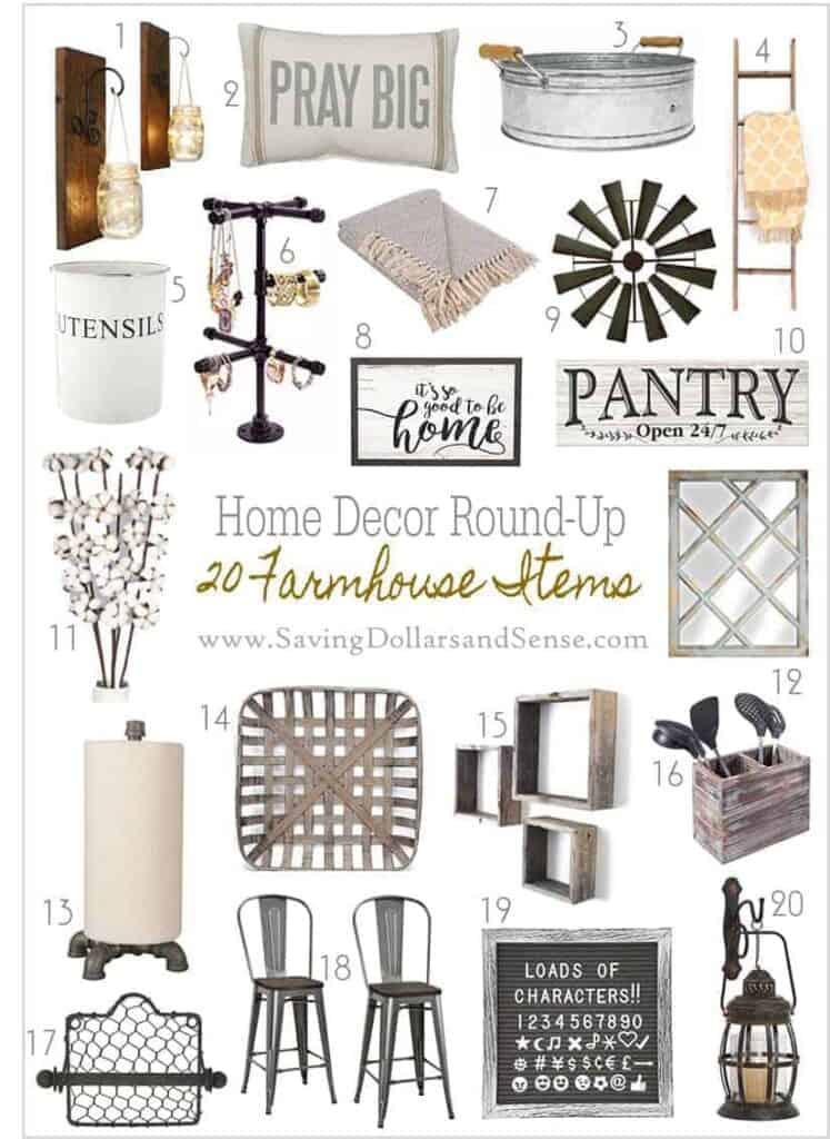 Farmhouse country home decor ideas you can use for your home.