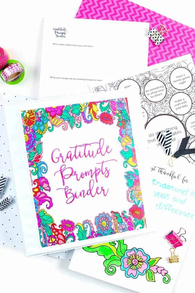 Free Printable Coloring Gratitude Prompts Binder