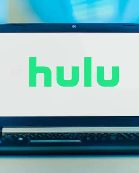 laptop showing the hulu logo