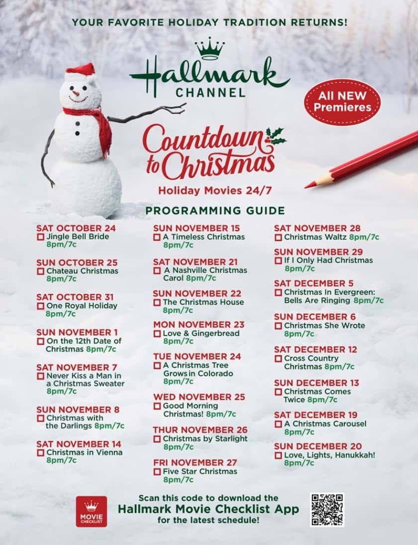 The 2020 Hallmark Christmas Movies Schedule   Saving Dollars & Sense