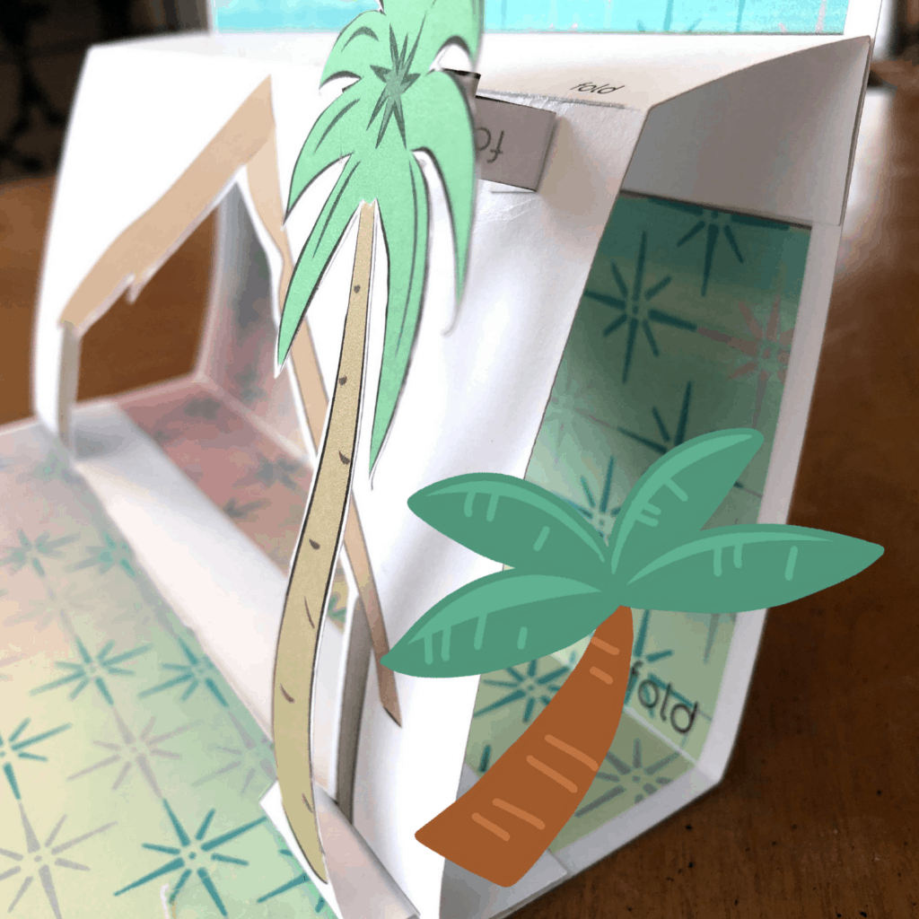 paper palm trees