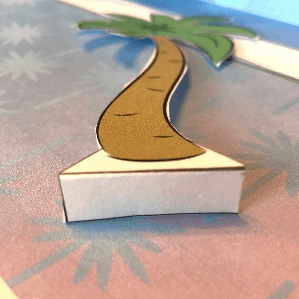 cut out paper palm tree