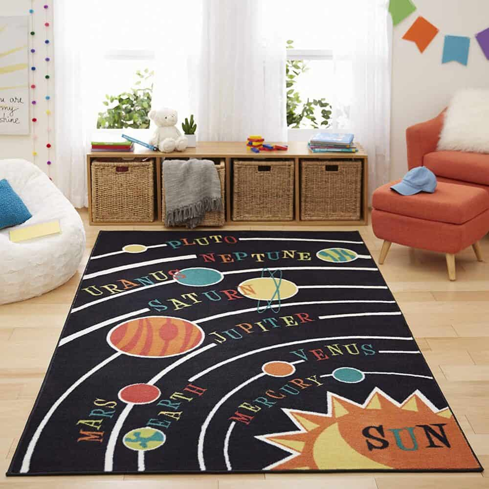 Solar System kids rug