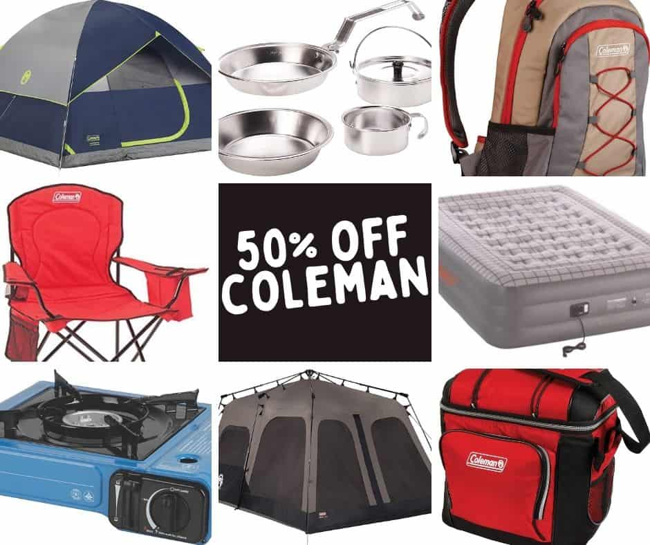 Save up to 57% off Coleman camping and outdoor gear - tents, sleeping bags, backpacks, cots and MORE!