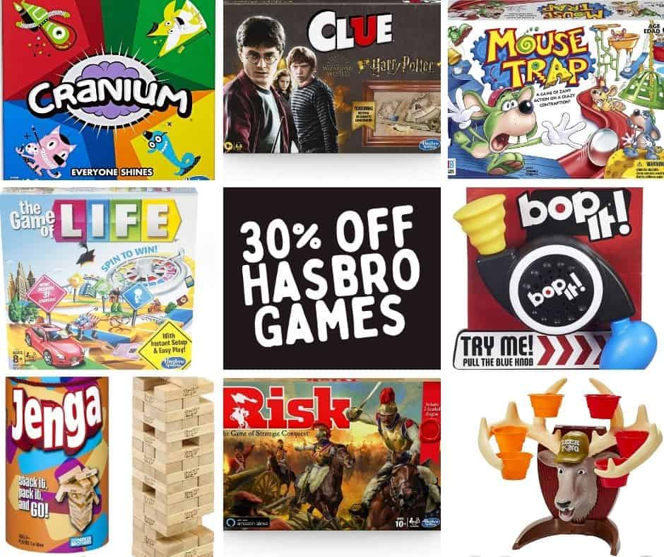 Hasbro games that are on sale.