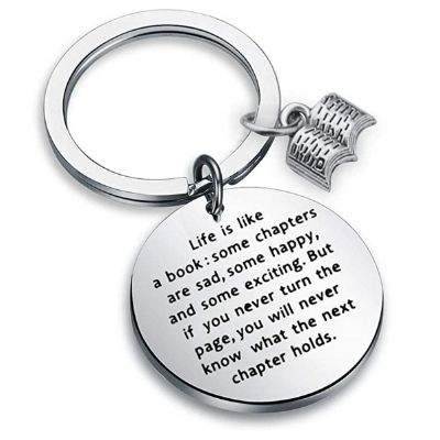 Book Club Keychain - Life is a Book