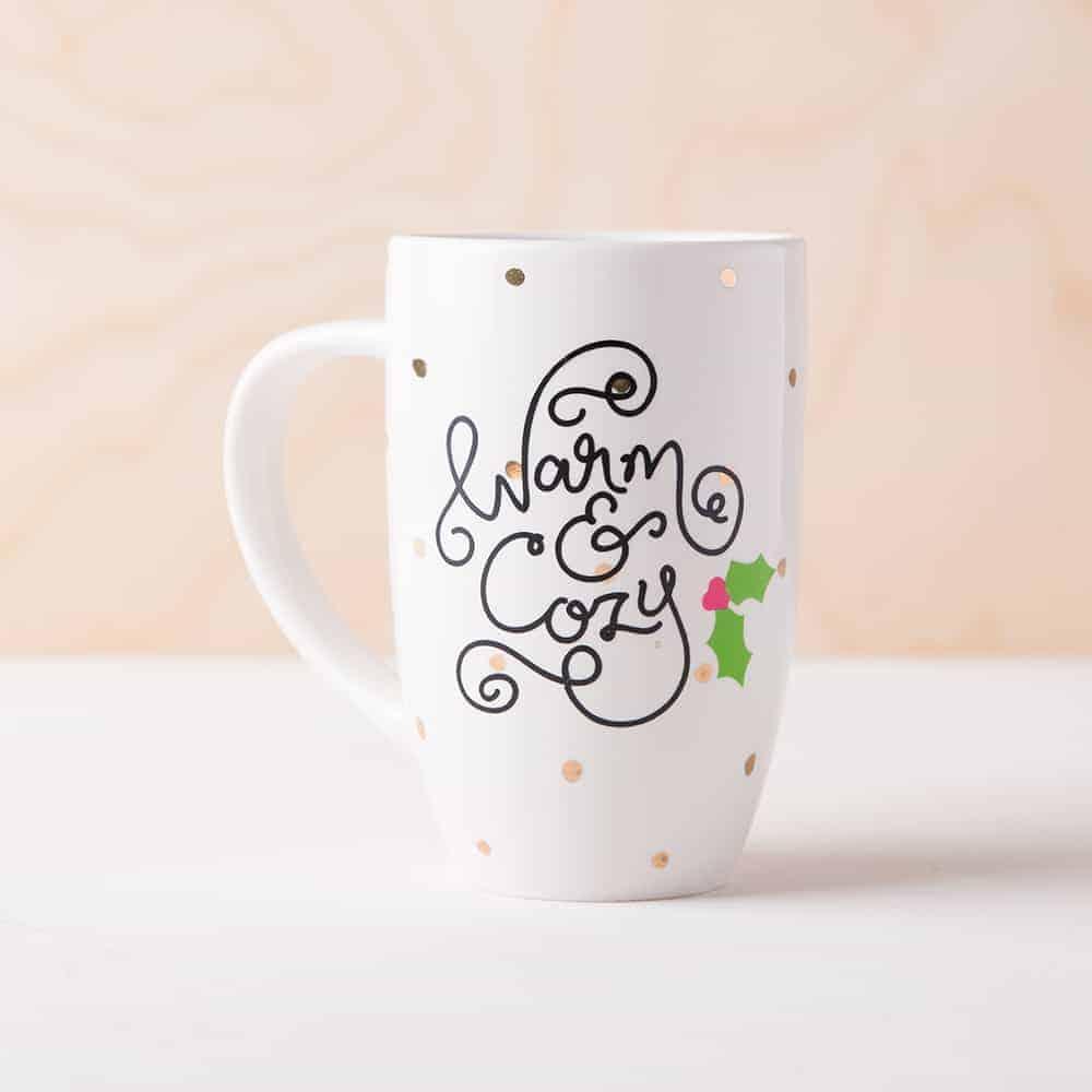 Warm and cozy Christmas mug.