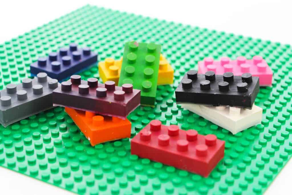 How to make Lego crayons.