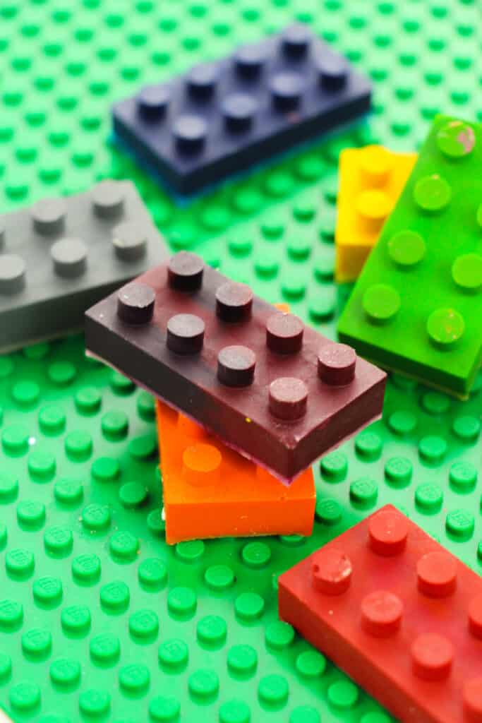 Lego molds piled on top of each other.