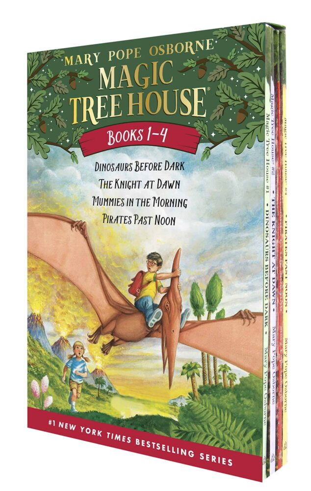 Magic tree house books 1-4