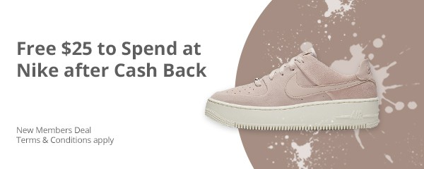 Free money to spend at Nike after cashback and here's how.