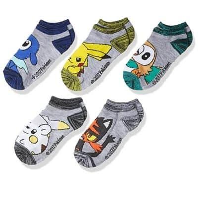 Pokémon Boys 5 Pack No Show Socks