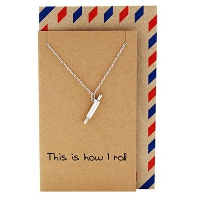 Rolling pin necklace.