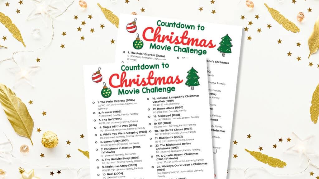 Countdown to Christmas movie challenge.