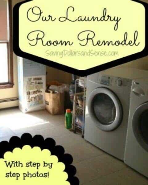 A clean laundry room after the laundry room remodel.