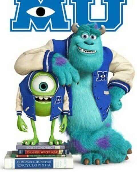 Monsters University poster.