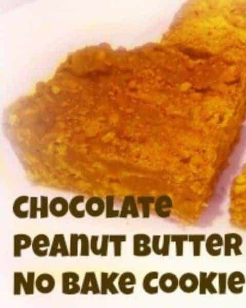 Chocolate peanut butter no bake cookie bars.