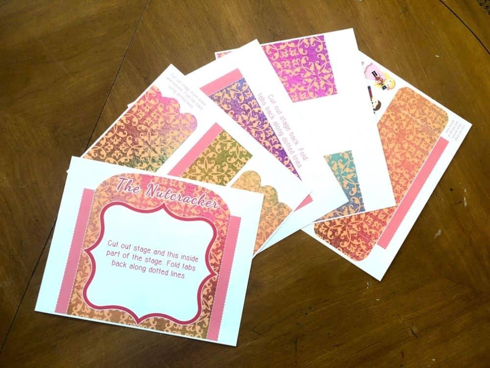 Cards from the Nutcracker ballet. The Nutcracker Story Printable Playset