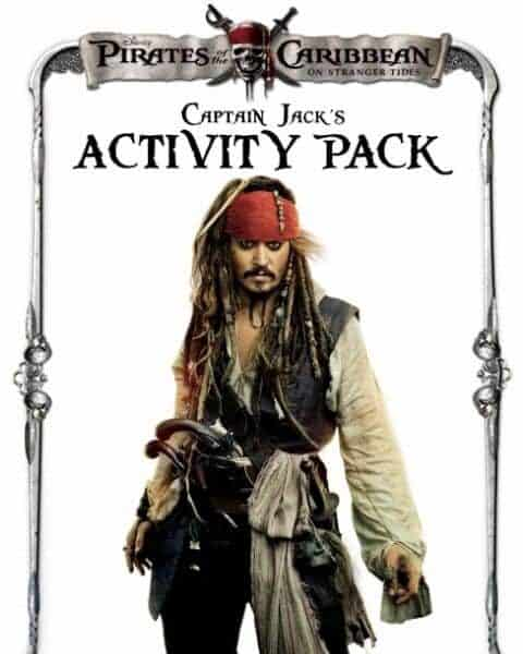 Cover of Pirates of the Caribbean Captain Jack's activity pack.