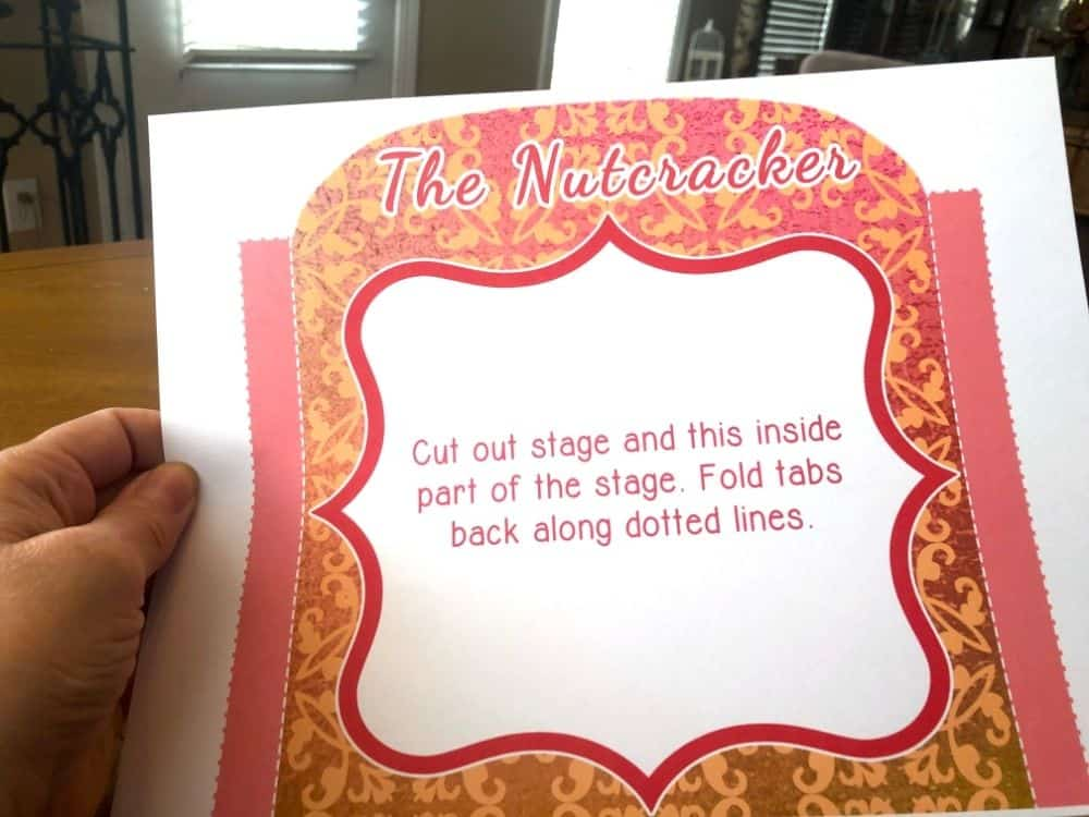 Directions to build the Nutcracker Story Printable Playset