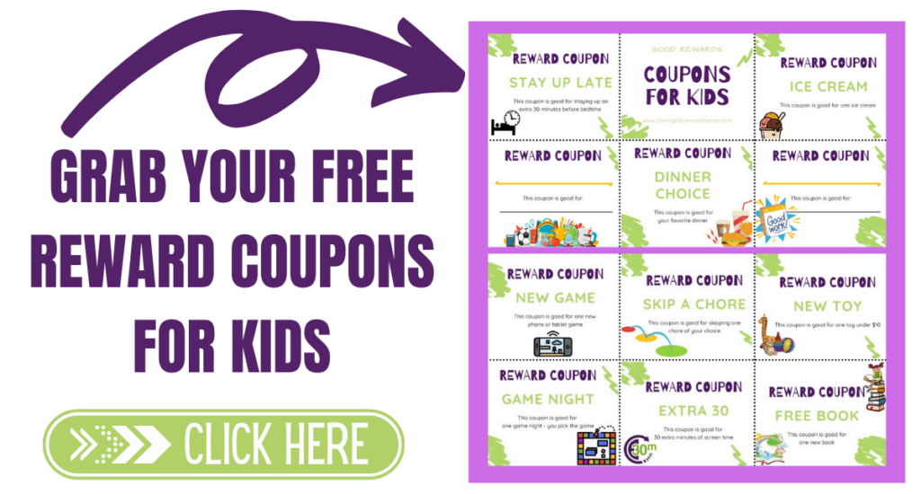 Grab your free Easter reward coupons for kids.