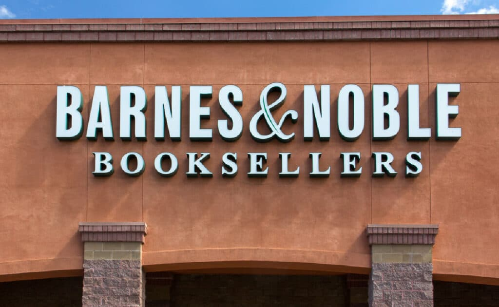 Barnes and Noble bookstore building.