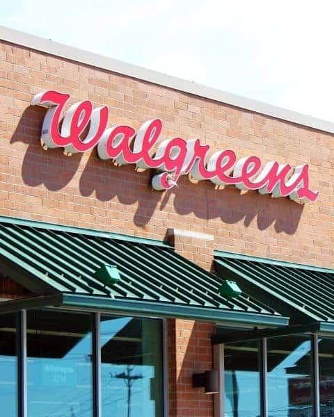 Walgreens store sign.