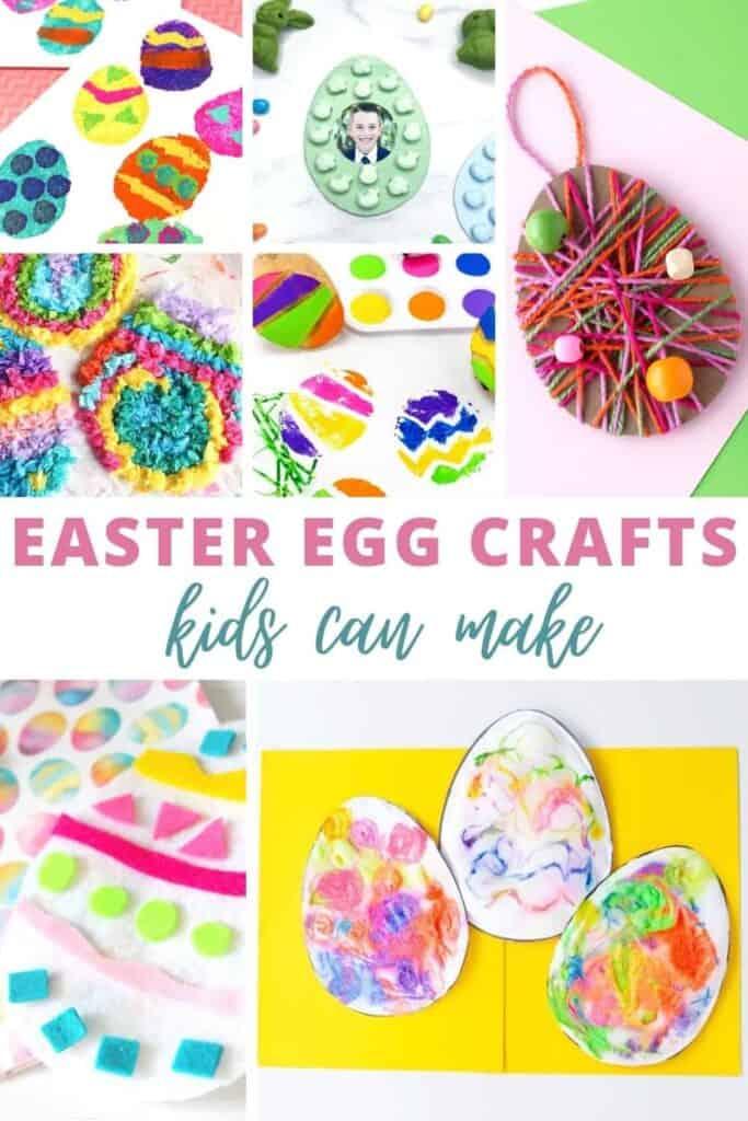 Easter egg crafts kids can make at home.