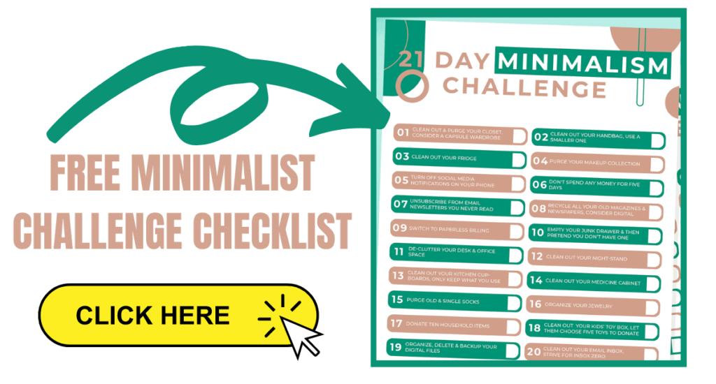 Free minimalist challenge checklist.