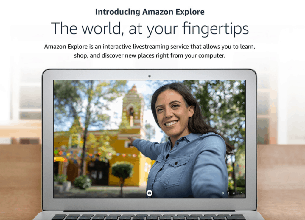The world at your fingertips with Amazon Explore.