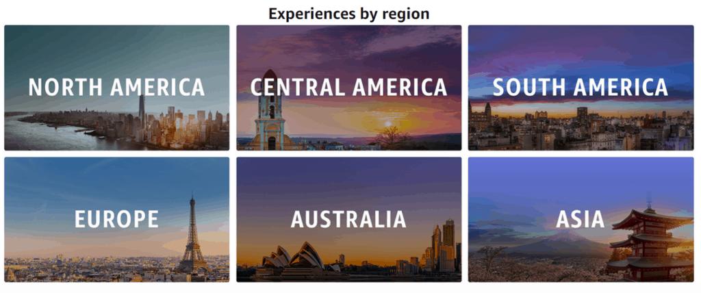 Explore by regions around the world.