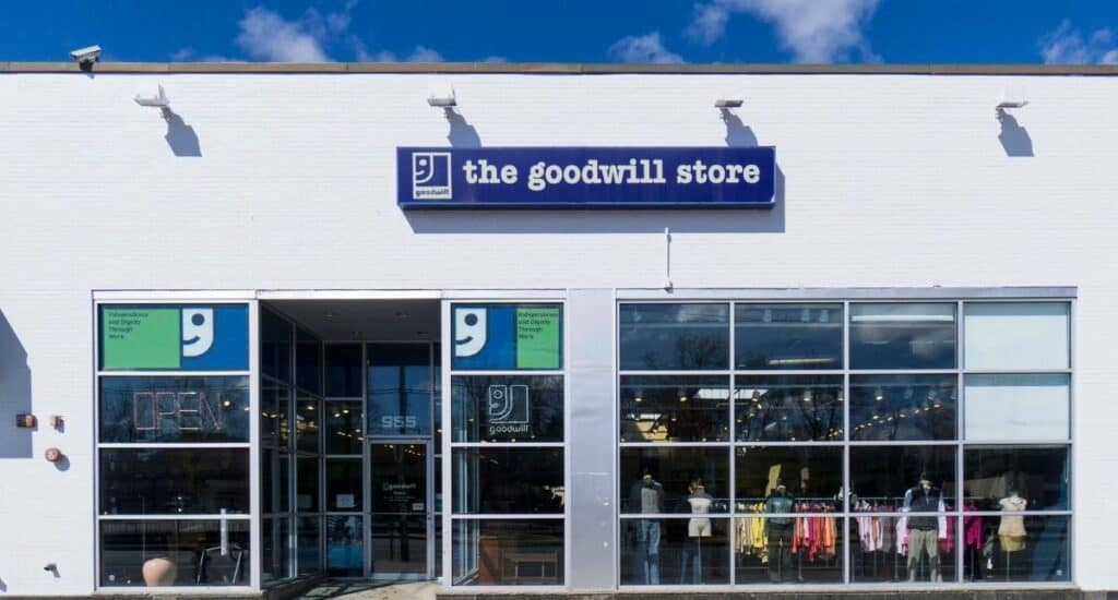 The goodwill store.