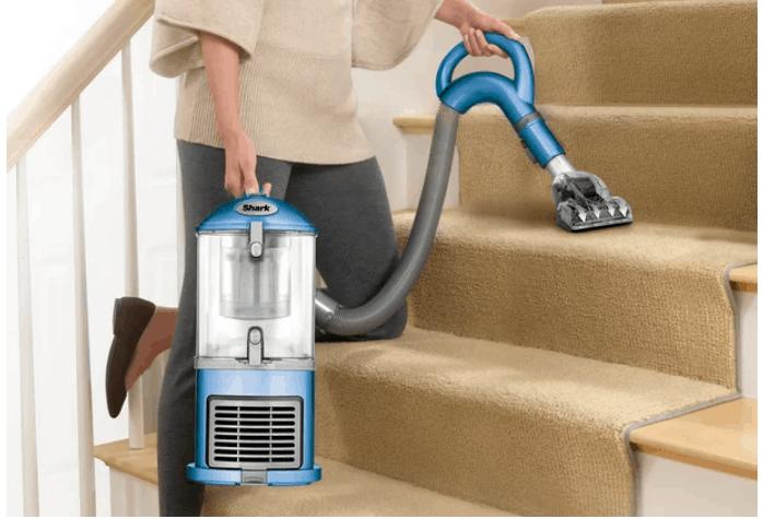 Vacuum on stairs.