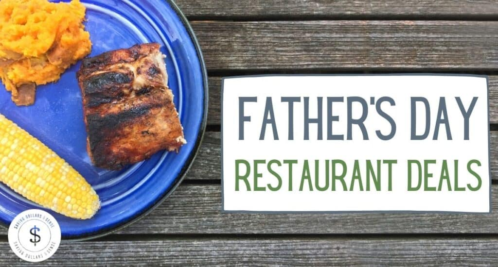 Father's day plate with delicious food.