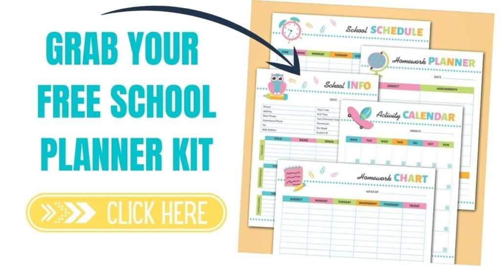Free school planner kit.