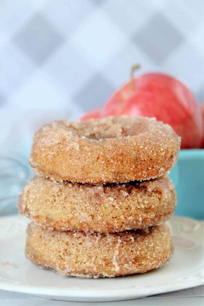 Baked apple cider donuts.