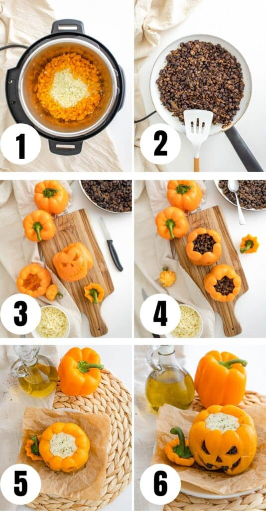 Steps to create and make bell peppers